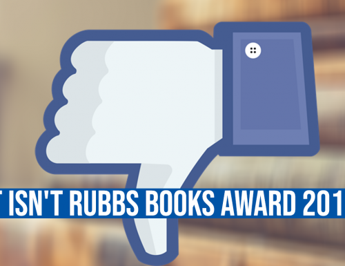 It isn't Rubbs Books Award 2018